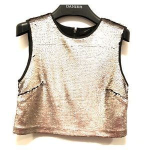 NWOT Silver sequence crop top